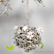 Natur Anhänger Weidenkugel 13-15cm