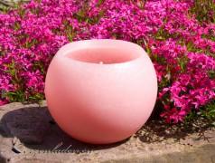 Gartenkerze Outdoorkerze Kugel Romantik 15cm rosa