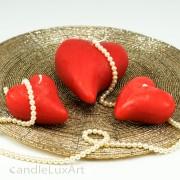 Kerze Herz gebogen in 2 Größen