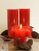 Lotuskerze Duftkerze 18cm Vanille-Blüte bordo