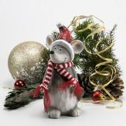 Terrakotta Weihnachtsmaus 21cm