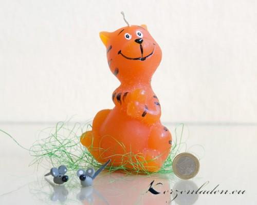 Figurenkerze Tiger - orange