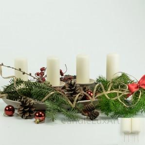 Adventskerzen Weihnachtskerzen 4er Set Creme 10cm