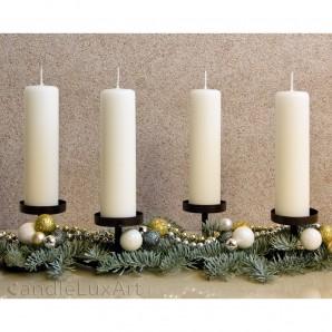Adventskerzen Weihnachtskerzen 4er Set - creme - 15cm