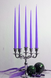 12er Tafelkerzen Spitzkerzen Leuchterkerzen Set - helllila 38cm