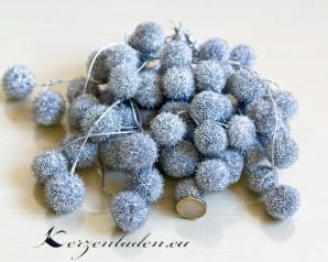 Dekoration 1 Bund Plataanball Zweige in Silber