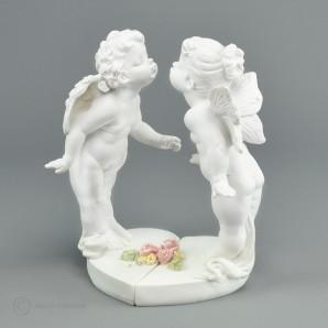 Engel und Elfe im Rosengarten 16cm