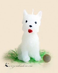 Figurenkerze Hund - Westi - 14cm