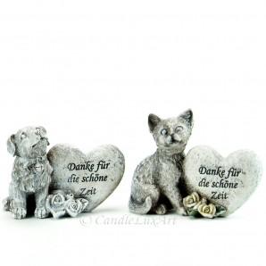 Trauerfigur für Ihre Tiere mit Aufschrift 10-11x13-15cm