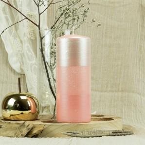 Stumpen Kerzen Satin Perlmutt 7x18cm Rosa