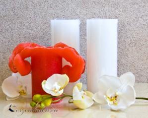 Lotuskerze 18cm weiß ohne Duft