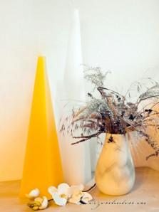 Pyramidenkerze - Bodenkerze 60cm - gelb