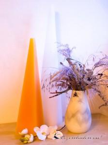 Pyramidenkerze - Bodenkerze 80cm - orange