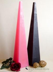 Bodenkerze Pyramidenkerze 60cm schwarz