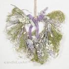 Natur Anhänger Reben Lavendel Herz 30cm