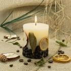 Stumpen Früchte 7x8cm Duftkerze  Vanille