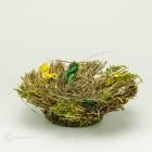 Gras Blütennest Natur_Grün_Gelb 17cm