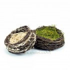 Natur Osternest - 16-19cm - Äste-Gras-Blüten