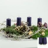 Adventskerzen Weihnachtskerzen 4er Set Lila 10cm