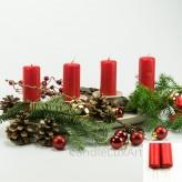 Adventskerzen Weihnachtskerzen 4er Set Rot 10cm