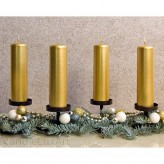 Adventskerzen Weihnachtskerzen 4er Set - Gold - 15cm