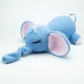 Elefant hellblau 33cm - Strickware Handmade Amigurumi