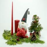 Weihnachtsmann Santa mit Sack 33cm - graue Muetze