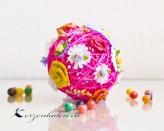 1 Peddig - Blütenkugel zum anhängen - Pink