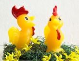 Osterkerze Figur  - Der Hahn
