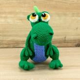 Der grüne Dino 21cm Strickware Handmade Amigurumi
