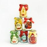 Duftkerzen im Glas 700g Weihnachtsduft 6 Varianten