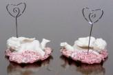 Engel auf Rosenherz mit Kartenhalter - liegend rechts