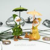 Set Ganz im Regenmantel und Schirm