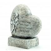 Trauer Herz auf einem Sockel 20cm