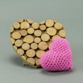 Herz in pink 7cm  - Amigurumi Handmade