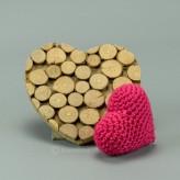 Herz in rot 7cm  - Amigurumi Handmade