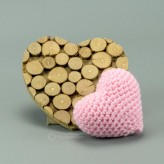 Herz in rosa 7cm  - Amigurumi Handmade