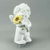 Engel Igor Sommer Sonnenblumestehend Blume oben 23cm