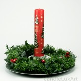 Adventskalender Stumpen Tanne Noten rot 25cm