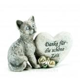 Trauerfigur Katze mit Aufschrift 11x15cm