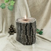 Kerzen Duftkerze Stumpen Baumstumpf 11,5x13cm