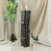 Kerzen Duftkerze Stumpen Baumstumpf 7x26cm