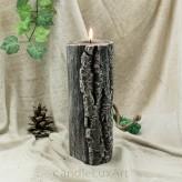 Kerzen Duftkerze Stumpen Baumstumpf 8x21cm