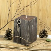 Kerzen Sandelholz Baumstumpf Braun 10x14cm