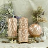 Stumpen Kerzen Versaille Perlmutt Rose Gold 4 Größen