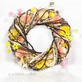 Frühlings- Holzblütenkranz - rosa - 30cm