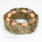 Natur Osterkranz Stroh Eier Tischkranz 20cm