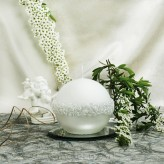 Kugel Kerzen Rosenkranz Perlmutt weiß 8cm