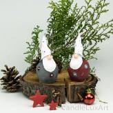 2er Set Kugel Weihnachtsmann Weihnachtskerze 11cm
