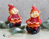 Zwergenmädchen Weihnachtskerze - 12cm